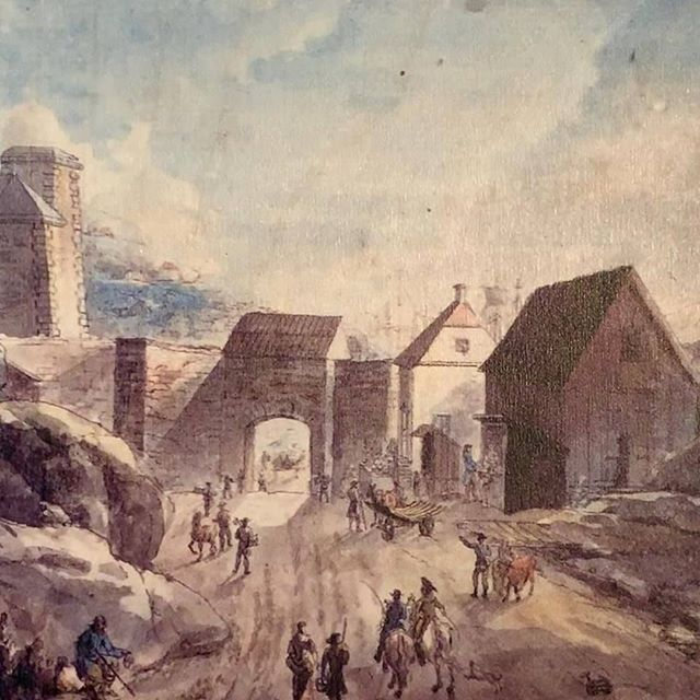 """The Carlsgate into Gothenburg in the 17th Century. On this road, farmers and merchants would travel in to the city to sell their goods. It would take them pass the first suburb - Haga. A small paradise then. But 200 years later Haga would be the centre of theft, smuggling, brothels and murders. Want to know more?⠀Join #Crimewalks and listen to stories about """"fallen women"""" and infamous prisoners. Tours in English starts on 27th April.⠀⠀#Haga #Gothenburg #Göteborg #Sweden #criminality #thedarkersideofgothenburg #thieves #brothels #murders #history #crimestory #crimestories #truecrimestories #thisisgothenburg"""