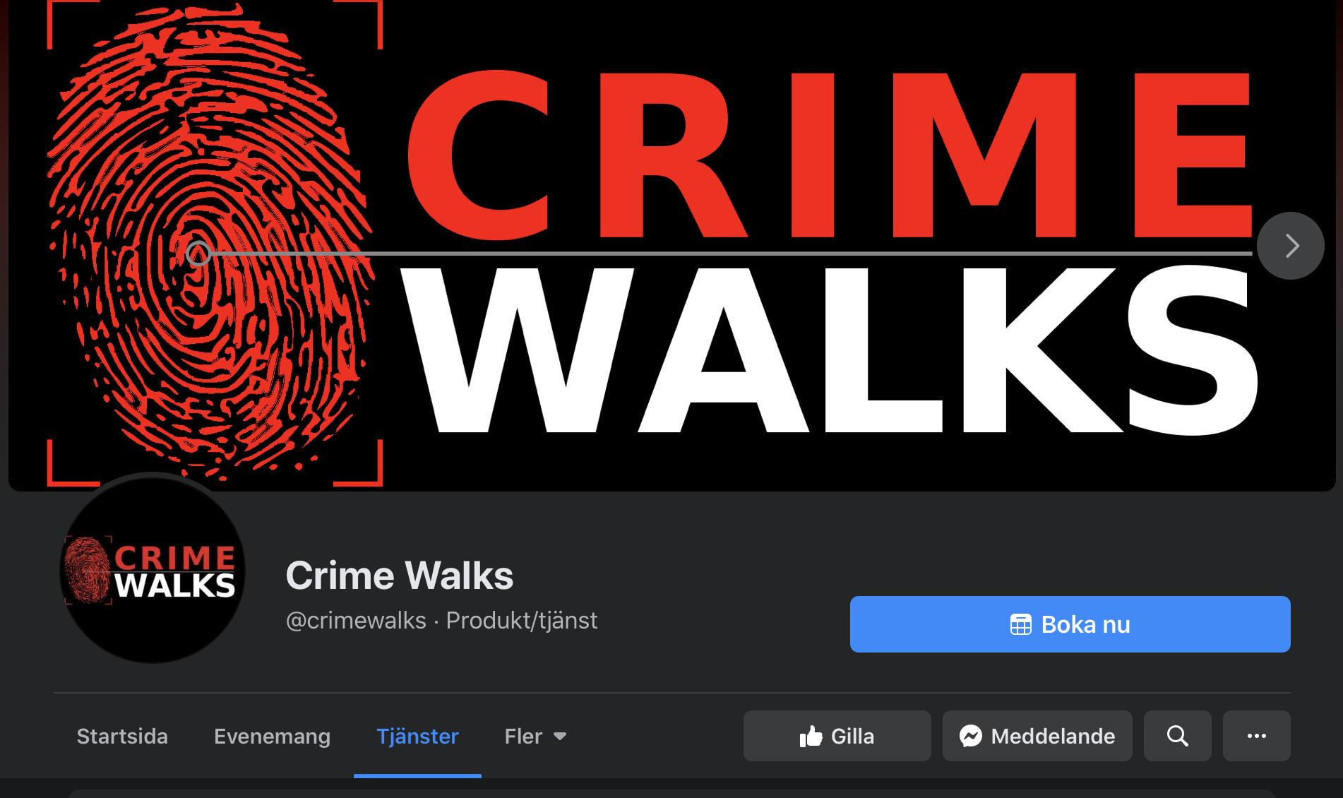 Boka Crime Walks till ditt företag eller kompisgäng